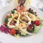 Taverna seafood salad