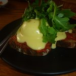 N'duja, hollandaise and poached eggs