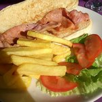 Bacon sandwich - comes with chips.