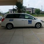 The not so complimentary airport shuttle. ..