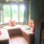 living room cozy window seat
