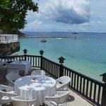 from the balcony of Fiji restaurant