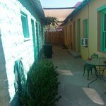 The courtyard you share with the Agave Room