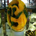 a melon carving