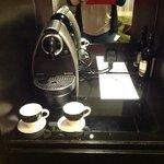 Nespresso machine in our room!