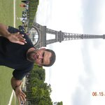 Paul ends the tour at the Eiffel Tower