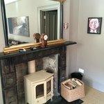 Wood burner in the suite living room