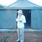 Tea outside the mess tent