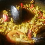 The most amazing fideua noodle paella from Hotel Tarba