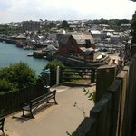 The view from the outside terrace overlooking Padstow