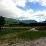 Un tarmarced road into mountains
