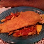 Fish dinner $12.99.
