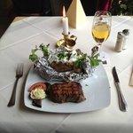 Aegean steak and Konig beer