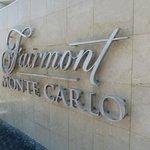 The Fairmont sign