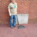 me with the sculpture of Babe Ruth's bat