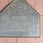Babe Ruth plate on outside of building