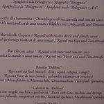 sample of menu
