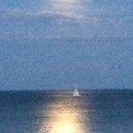 Moon on lake MI