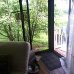 back porch to secluded open air side porch