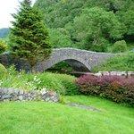 View from garden of Grange Bridge Cottage