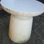 our sundeck table had green algae