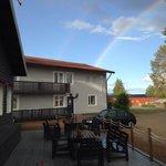 Double rainbow over the hotel!