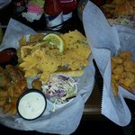Thin fried catfish and a side of shrimp!