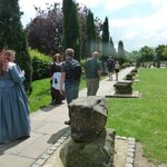 Roman Garden and the breach of the City Walls and our guide!