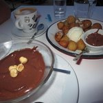 Honey Flazed Donuts and Chocolate Mousse