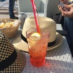 aperol spritz at the pool bar