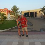 In front of the Beach Resort