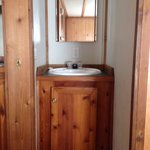 Bathroom sink area cabin C60