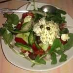 greek salad with naxo cheese