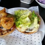 BBQ burger: overcooked but with a good sauce