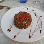 Primer plato: Revuelto de morcilla