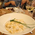 Ravioli with white wine