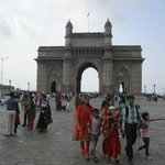 Indian tourists in front of Gateway