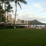 View of Diamond Head and Waikiki Shoreline from the grounds