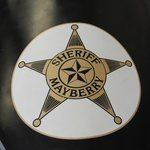Sheriff star on front of sidecar