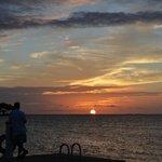 sunset at Tiki bar
