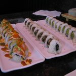 Psycho roll, spicy tuna roll, California roll