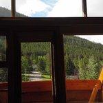 view through balcony windows