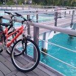 Bike parking at our villa