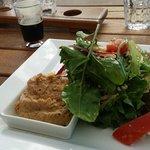felafel salad lunch - SUPER tasty !!