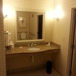 Half Bath at entryway to suite