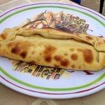 Caracolito, restaurant's version of calzone. Filled with ham, cheese and touch of tomatoe sauce.