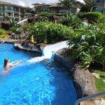 Pool waterslide