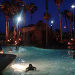 going for a night swim