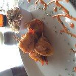 Plantain wrapped shrimp
