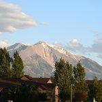 Mount Sopris view from Carbonale Days Inn front door